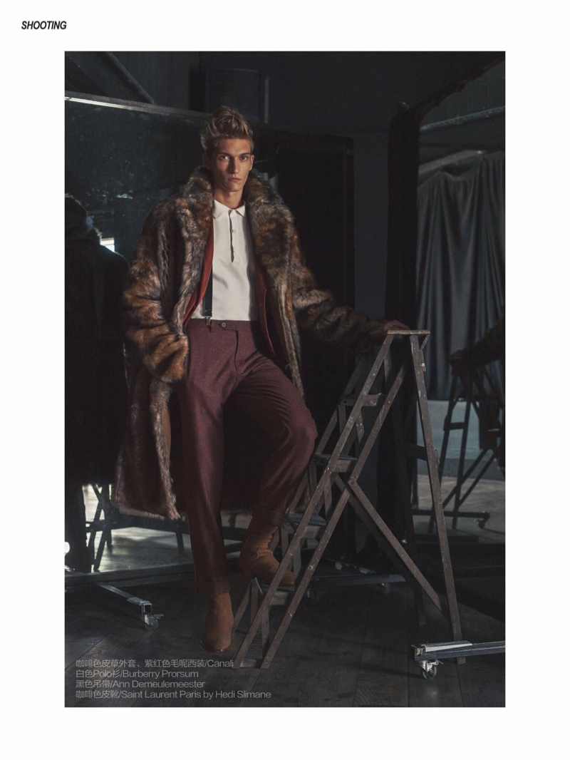 Matvey Lykov Dons Winter Fashions for Men's Uno