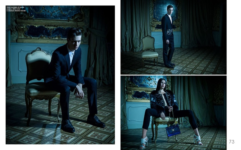 Victor Gorincioi & Stefan Knezevic Star in an American Horror Story for MF Fashion