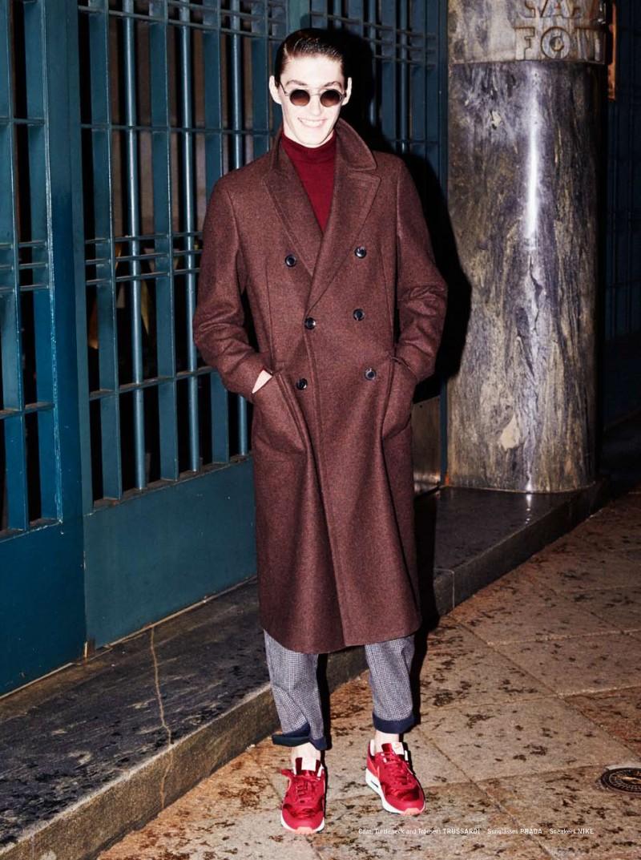 Mihai Bran Wears Winter Coats for The Greatest