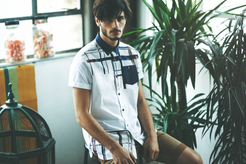 Max Barreau & Oscar Spendrup Model River Island Holloway Road Summer Collection
