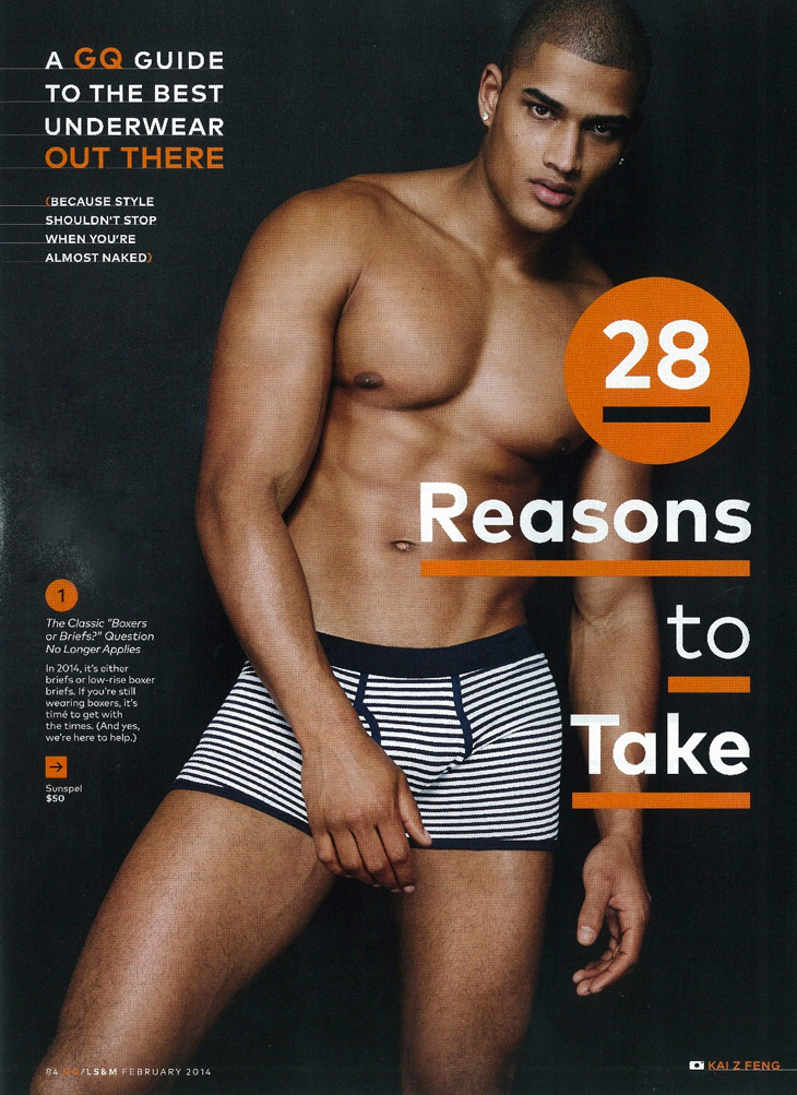 Rob Evans Models the 'Best Underwear' for American GQ
