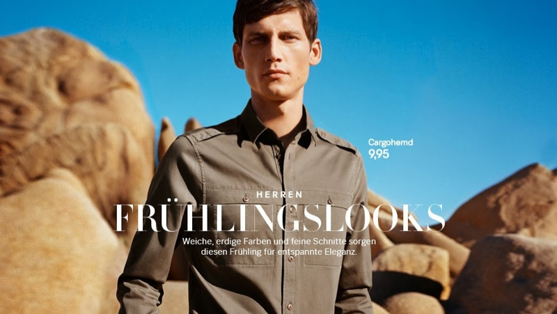 Roch Barbot Dons New Spring Looks from H&M