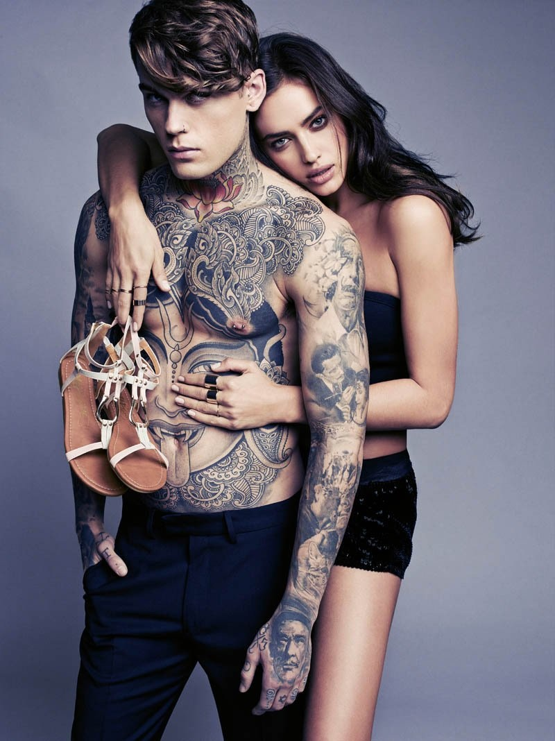 Stephen James Bares Tattoos for XTI Spring/Summer 2014 Campaign