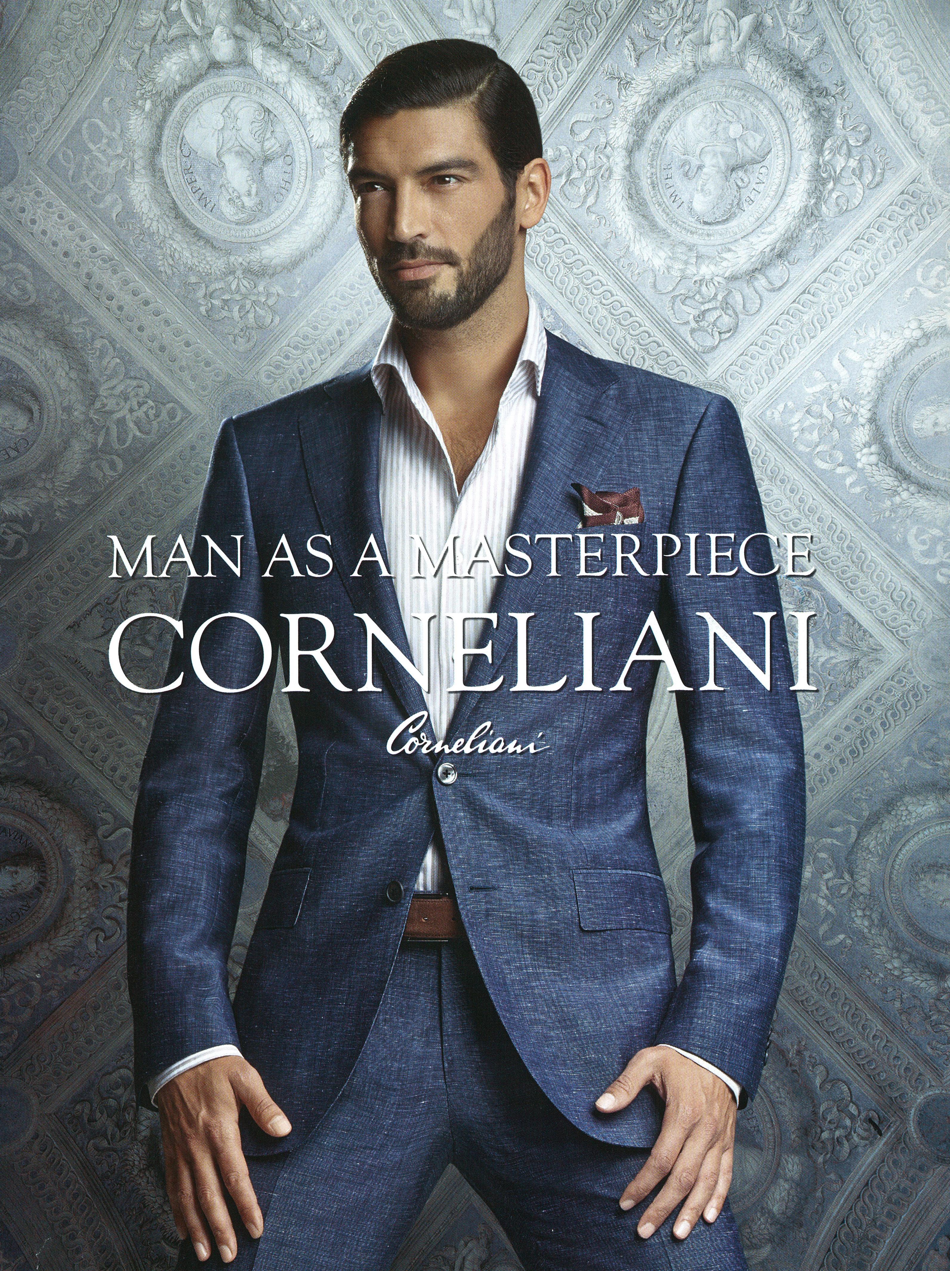 Corneliani Spring/Summer 2014 Campaign Featuring Clement Barreda