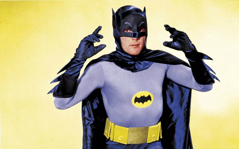 Adam West as Batman for the 1960s television series Batman