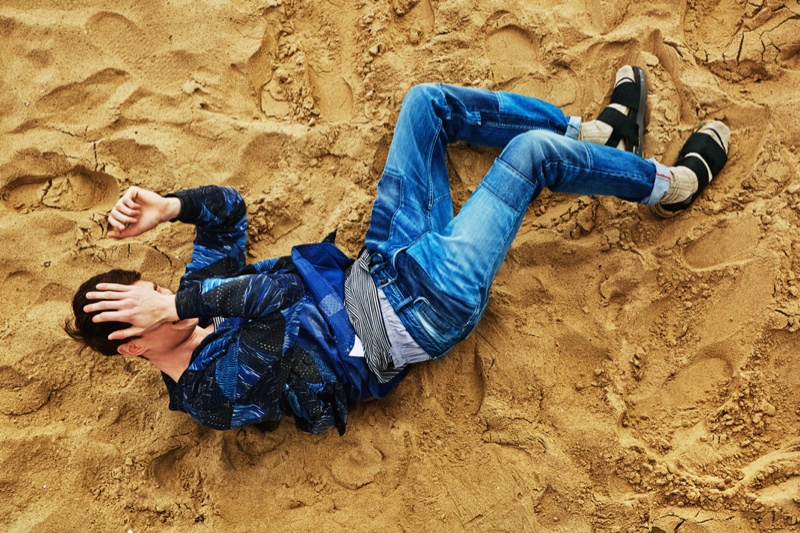 Andrew Westermann Sports 90s Inspired Styles for The New York Times Style Magazine