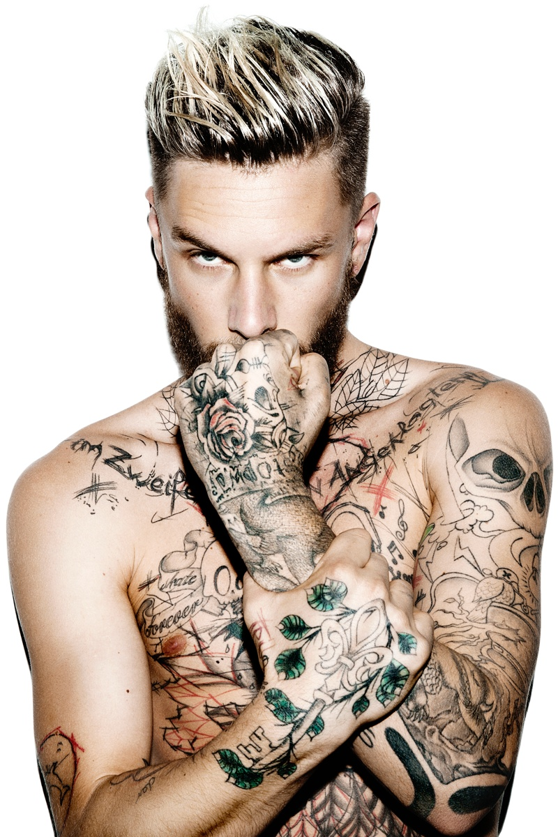 Keno Weidner Flaunts His Tattoos for Bowen Fall/Winter 2014 Campaign Photos