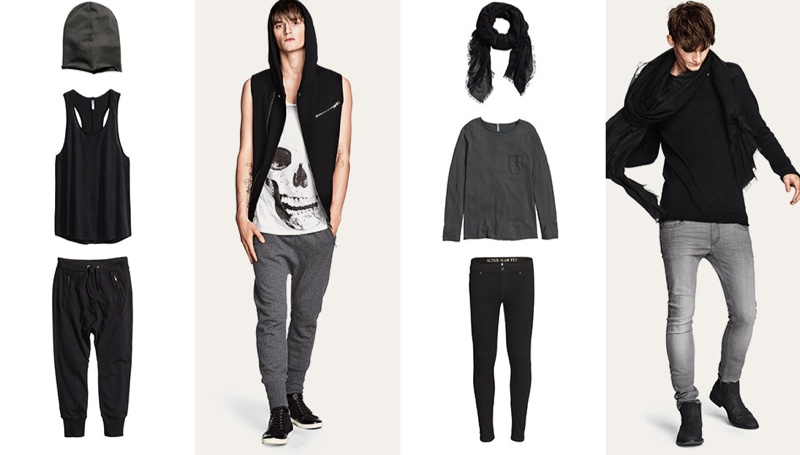 Charlie Westerberg Rocks New Divided Grey Spring Looks from H&M