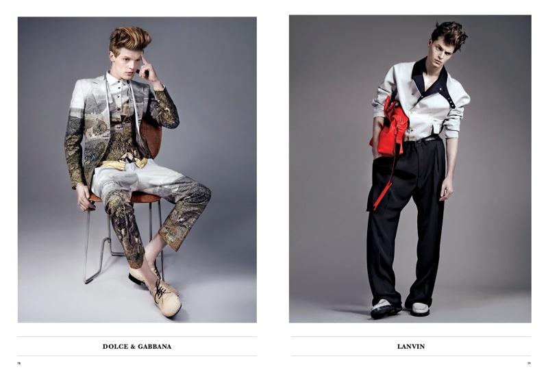 Luca Schmitz, John Hein & Lenz Von Johnston Model the Spring Collections for Essential Homme