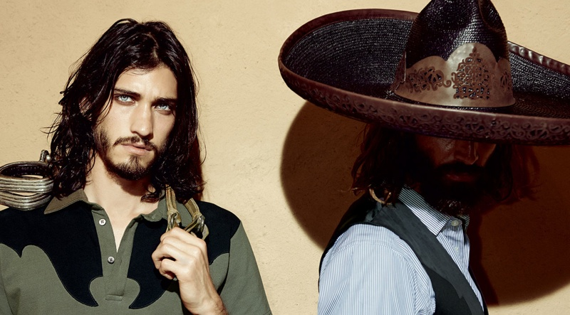 Etro Men Zorro Inspired Spring/Summer 2014 Collection Photos with Andres Risso, Ton Heukels + More