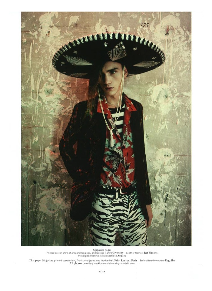 Paolo Roversi Shoots Gryphon O'Shea in Spring Prints for Vogue Hommes International