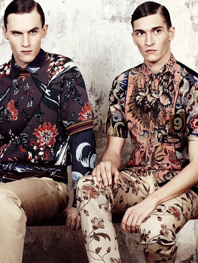 Matvey Lykov + Luka Badnjar Model Luxe Spring Collections for Plaza Uomo