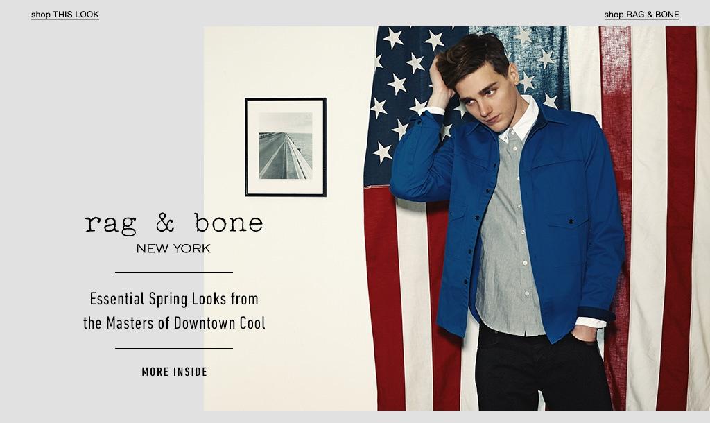 Downtown Cool: Matt McGlone Rocks Rag & Bone Spring 2014 for East Dane