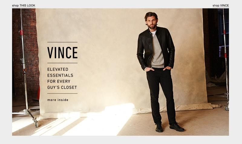 Modern Essentials: RJ Rogenski Models Vince for East Dane