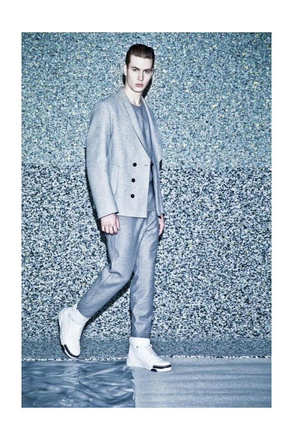 Sean Miller is Cool in Gray for WWD Fall/Winter 2014 Feature