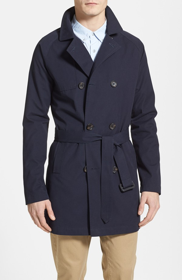 Topman Double-Breasted Trench Coat from Nordstrom
