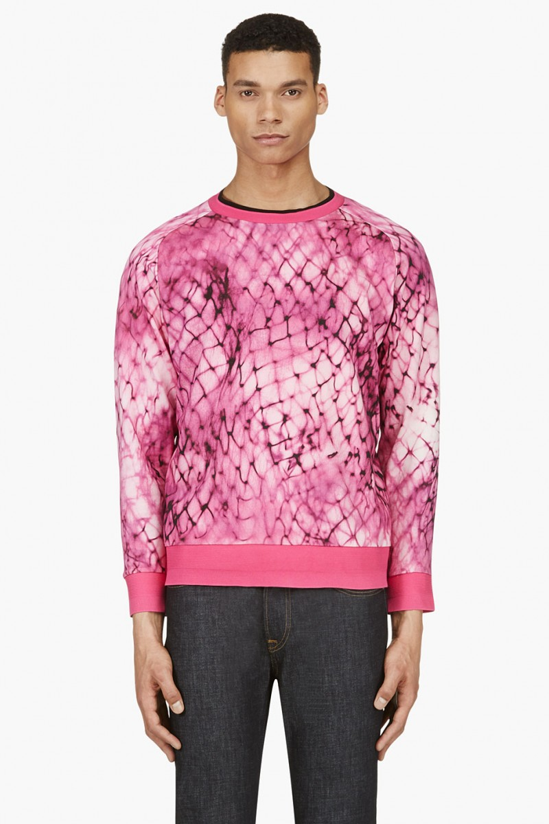 Paul Smith Pink Digital Print Sweatshirt from SSENSE