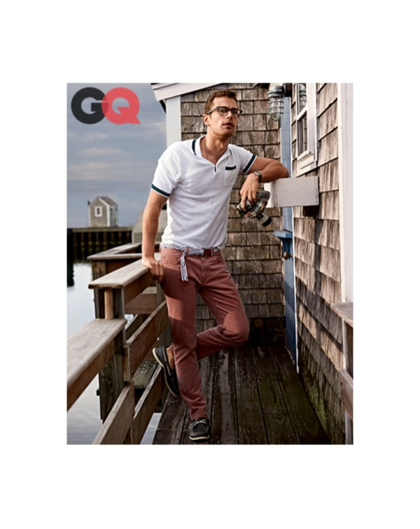 Theo James Models Preppy New England Styles for GQ + Talks Divergent