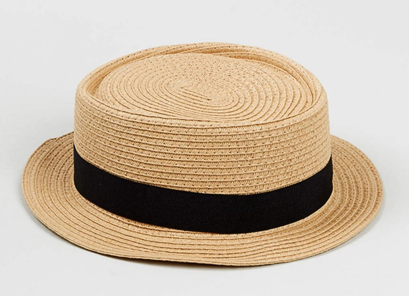 Straw Weave Pork Pie Hat from Topman