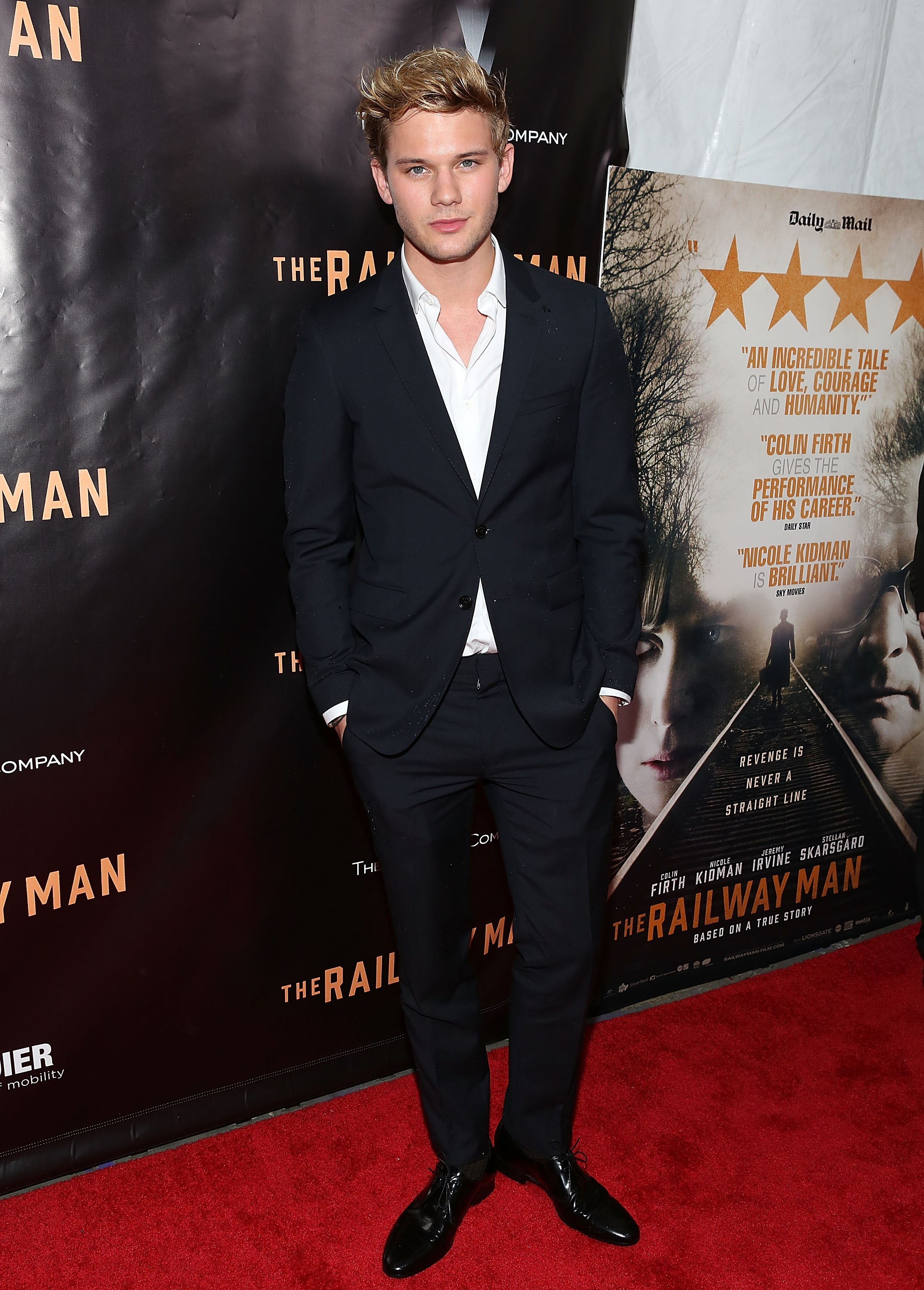Style Watch Jeremy Irvine Wears Burberry Tailoring To The