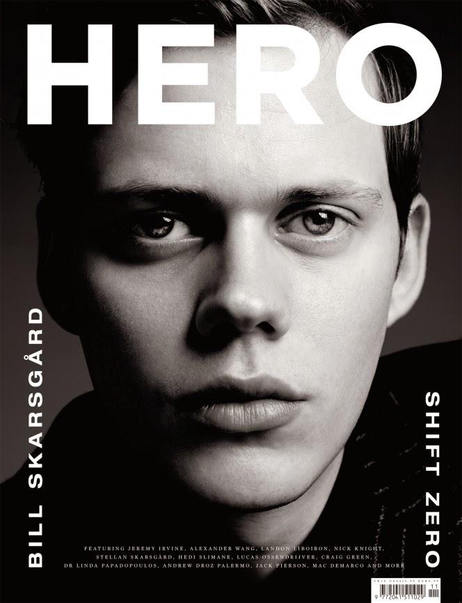 Bill Skarsgard Hero Cover Hedi Slimane