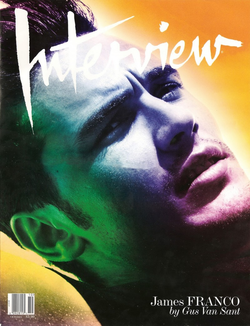 James Franco covers Interview October 2008
