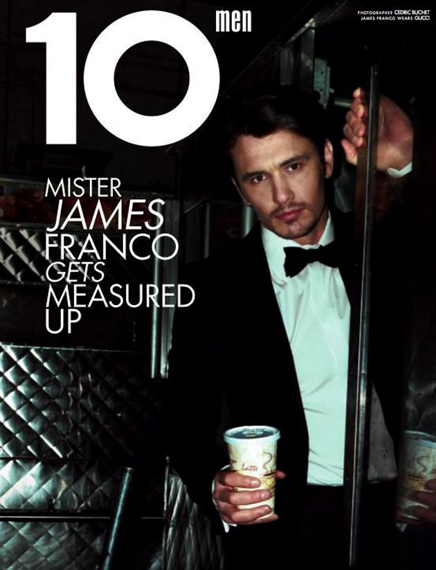 James Franco covers 10 Men spring/summer 2012