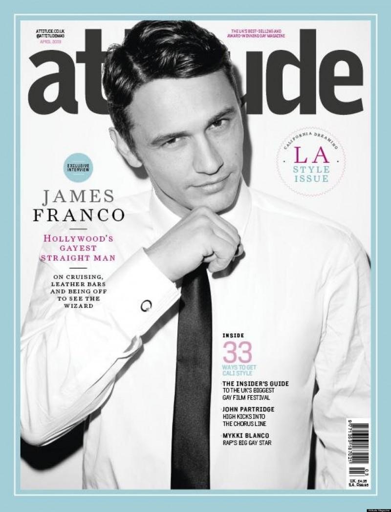 James Franco covers Attitude April 2013