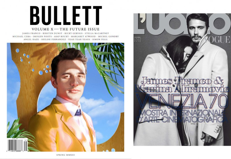 James Franco covers