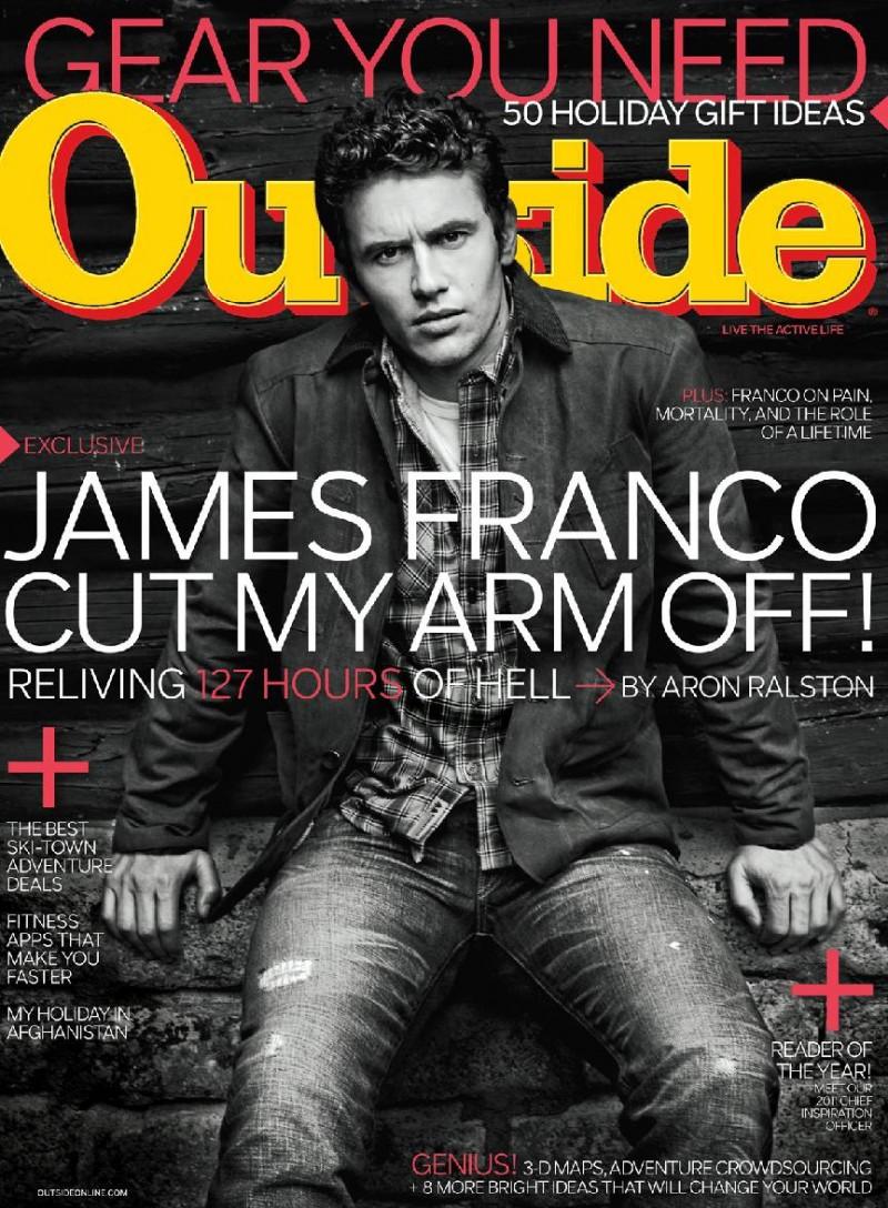 James Franco covers Outside December 2010