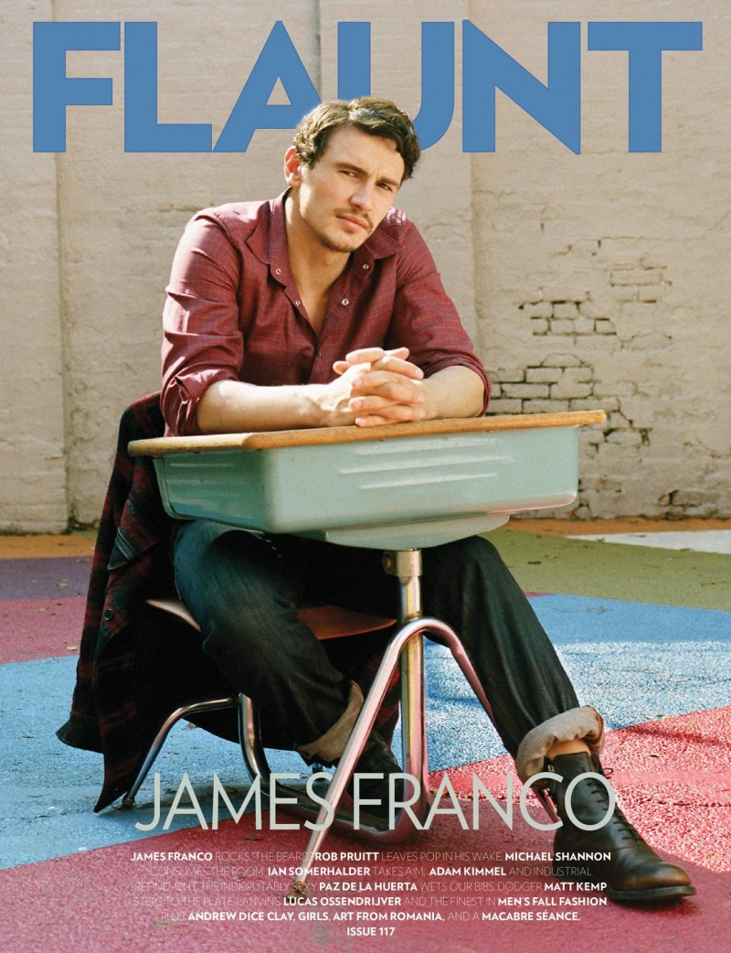 James Franco covers Flaunt fall 2011