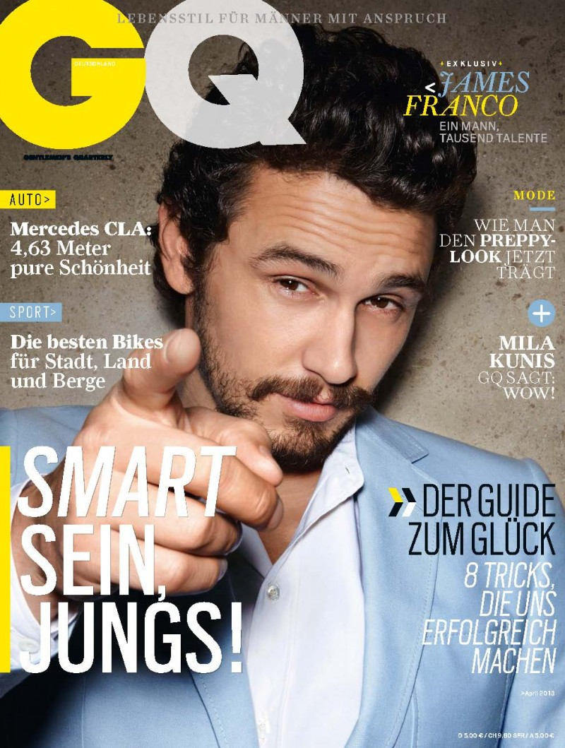 James Franco covers GQ Germany April 2013