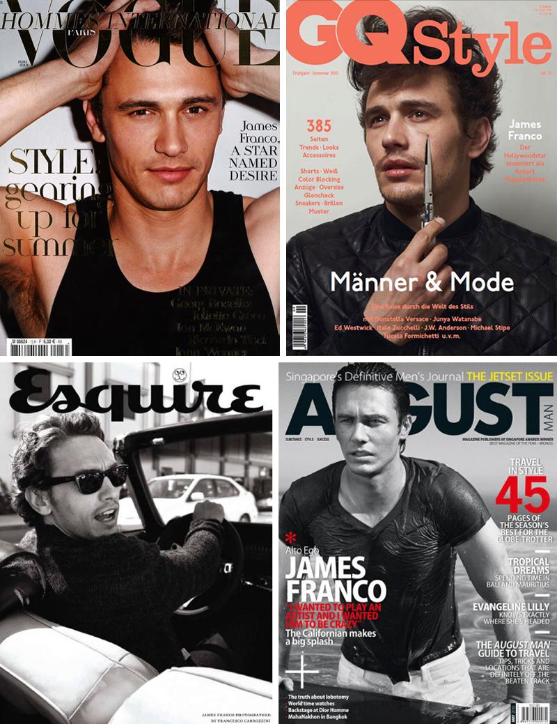 James Franco Magazine Covers