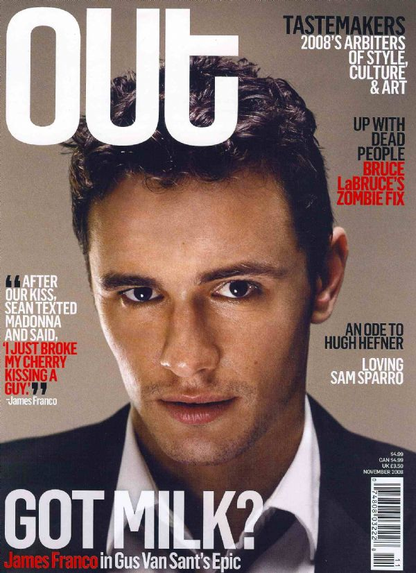 James Franco covers Out November 2008