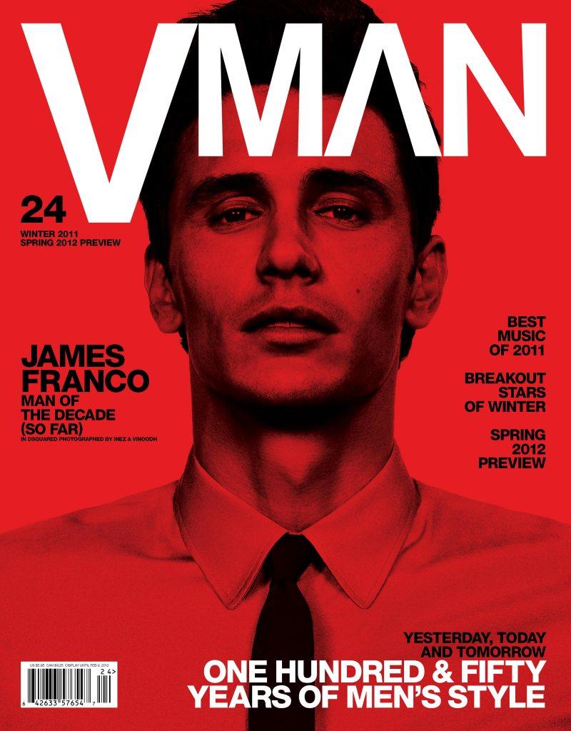 James Franco VMAN Winter 2011 Cover