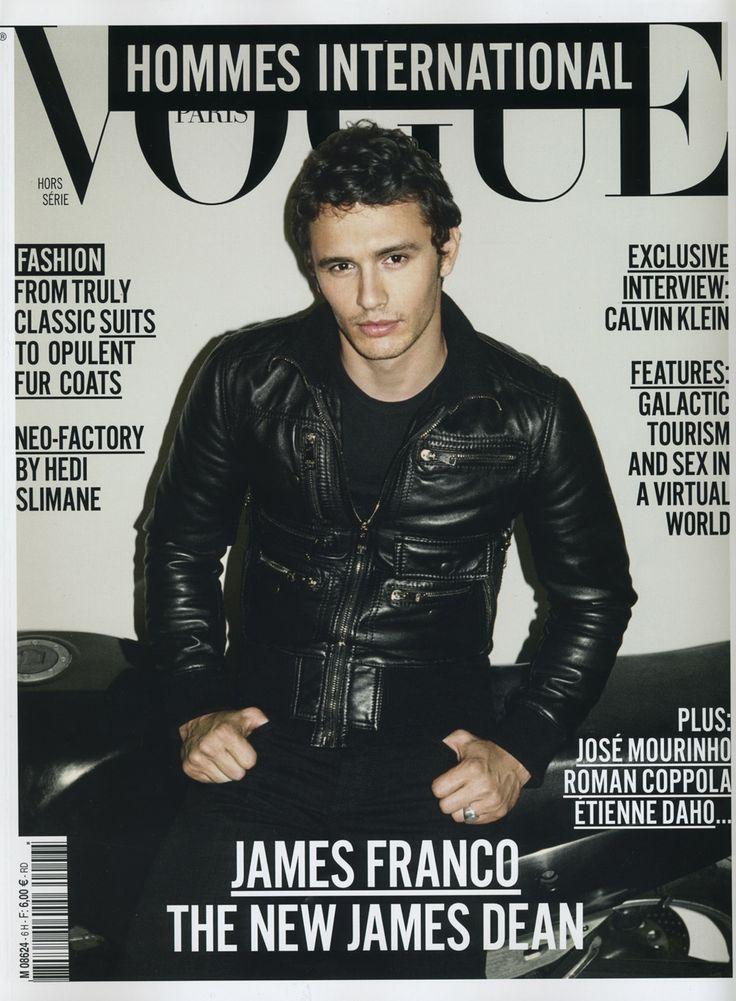 James Franco Vogue Hommes International Cover