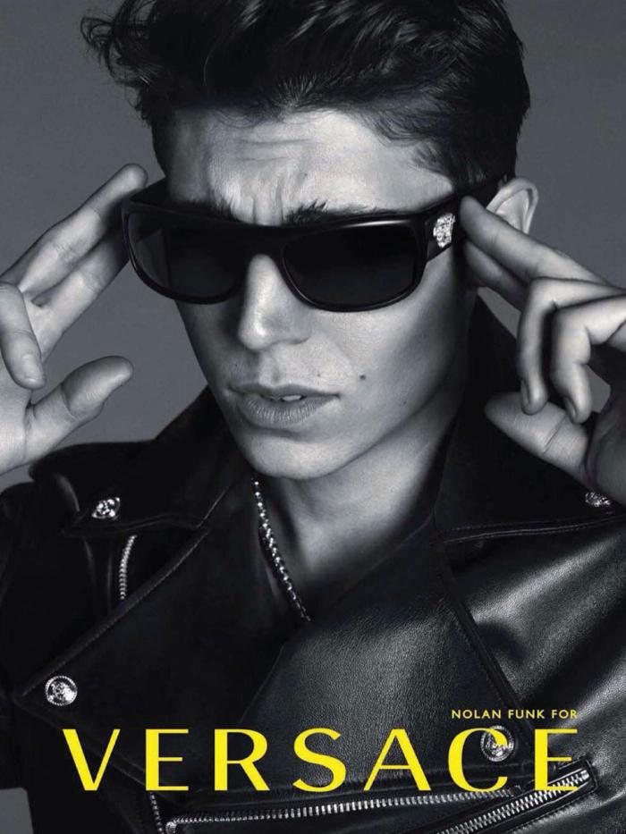 Nolan Gerard Funk Versace Eyewear Campaign