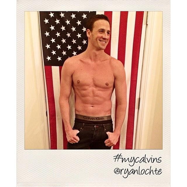 Ryan Lochte Shows Off His Calvin Klein Underwear for #MyCalvins