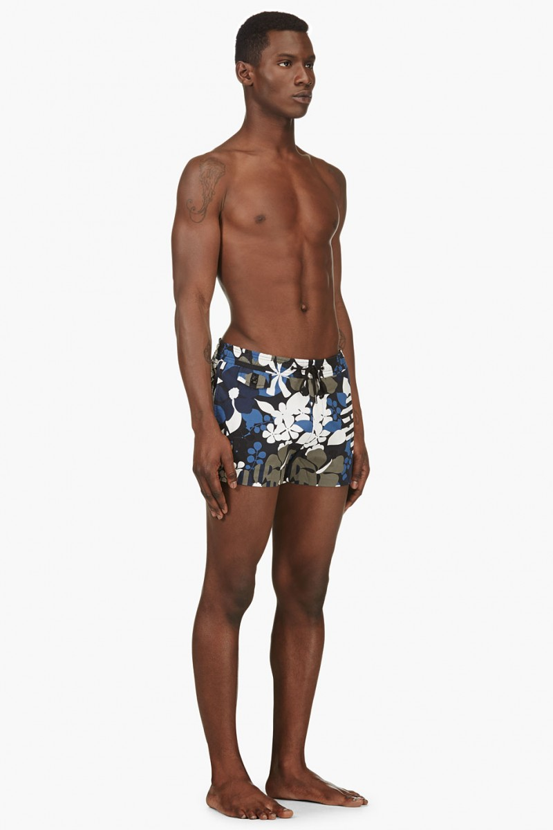 Marc by Marc Jacobs Navy Floral Swim Shorts