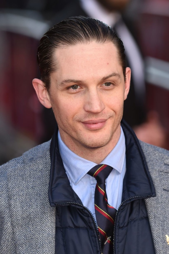 Tom Hardy Slicks Back Hair For Locke World Premiere