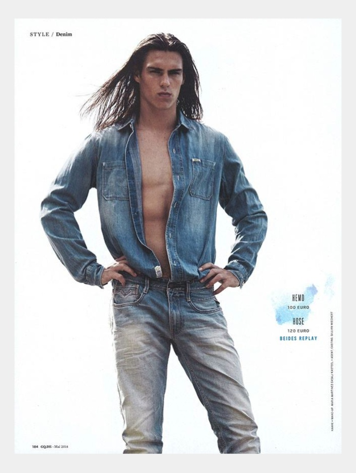Travis Smith Models Summer Denim for GQ Germany