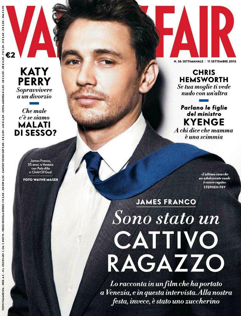 James Franco Vanity Fair Italia Cover