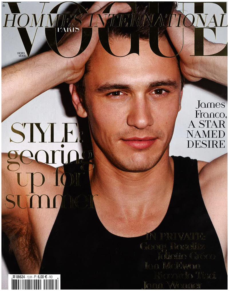 James Franco covers Vogue Hommes International spring/summer 2011