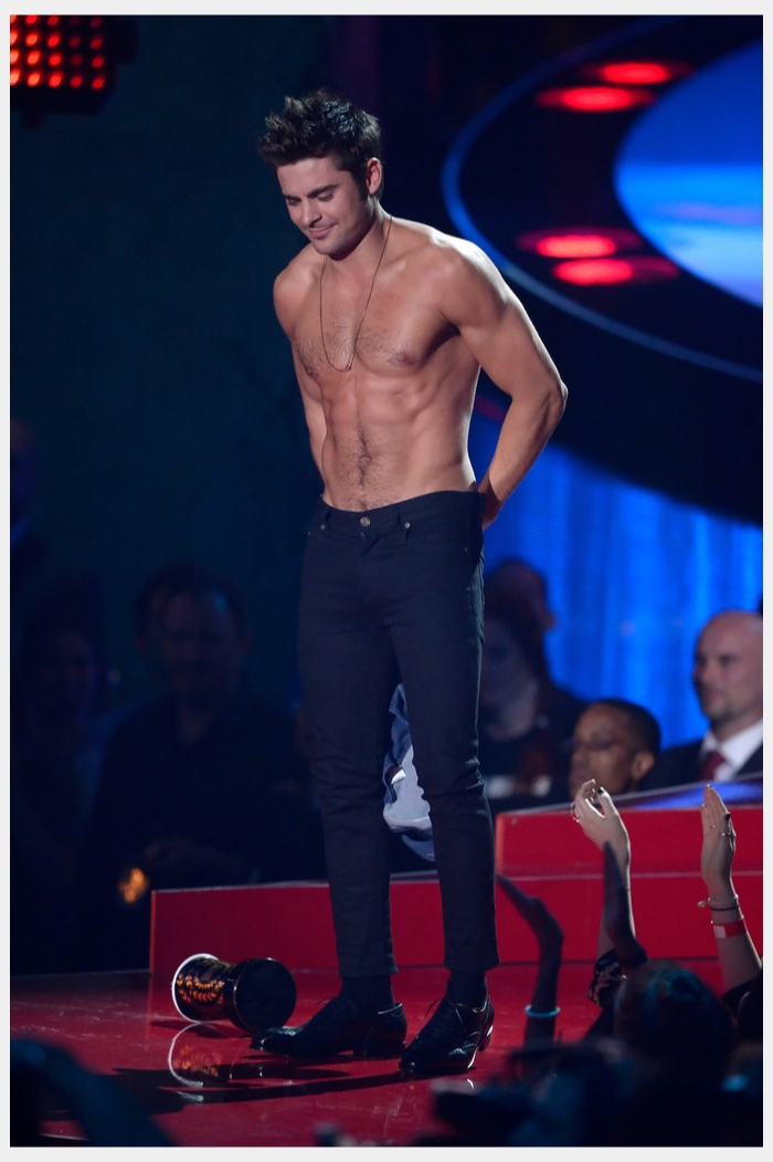 Zac Efron Wins Best Shirtless Performance, Gets Stripped