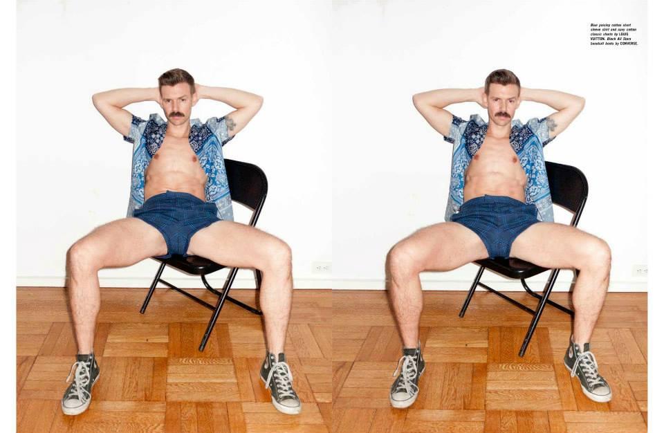 Terry Richardson Shoots Designer Adam Selman + His Moustache for Man About Town
