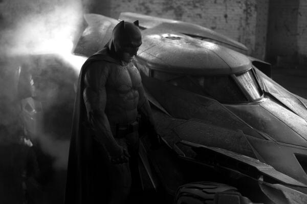 First Look: Ben Affleck as Batman + Batmobile