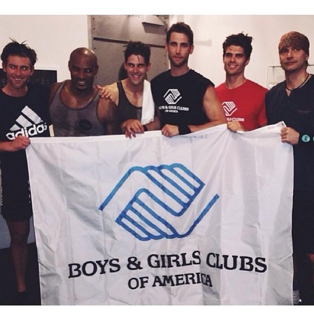 Justin Hopwood, Tyson Beckford, Chad White, Brian Shimansky and Marcus Schenkenberg