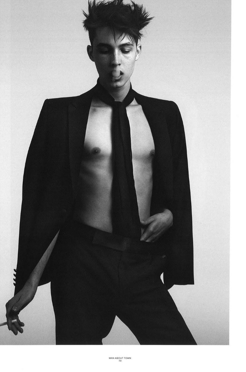 FF: Hedi Slimane Shoots Model Caleb Trent