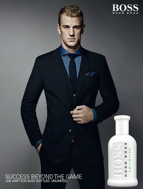 Goalkeeper Joe Hart fronts the campaign of Hugo Boss fragrance Boss Bottled Unlimited