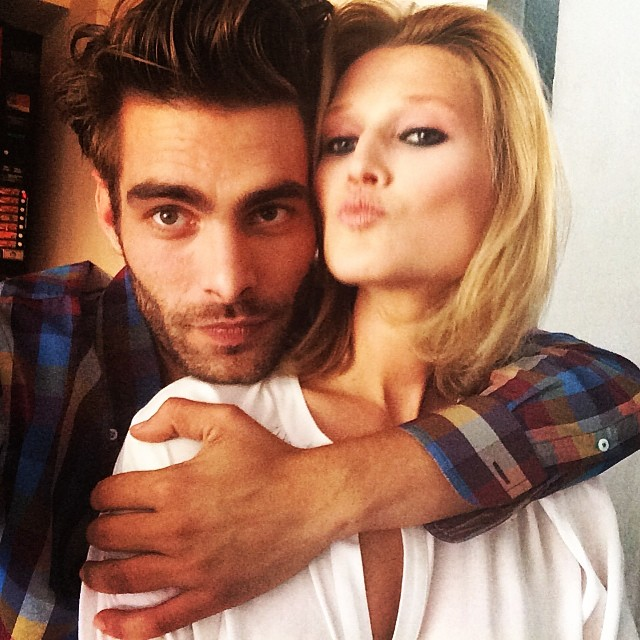 Jon Kortajarena shoots with Toni Garrn